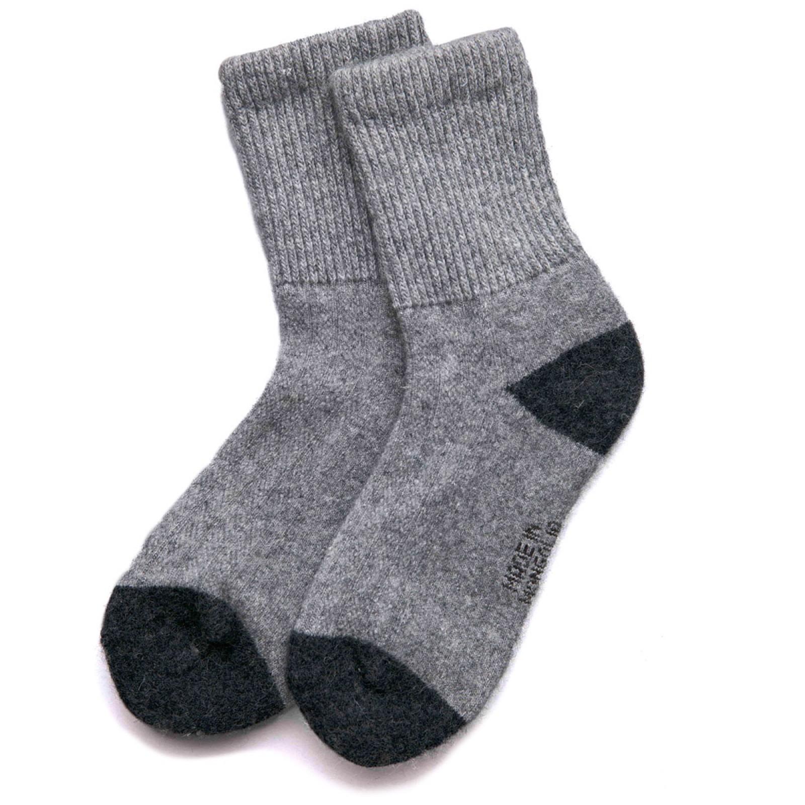Носки взрослые из монгольской шерсти яка серые