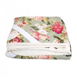 Одеяло из овечьей шерсти «Цветы» 180x200