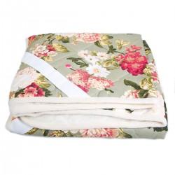 Одеяло из овечьей шерсти «Цветы» 200x220