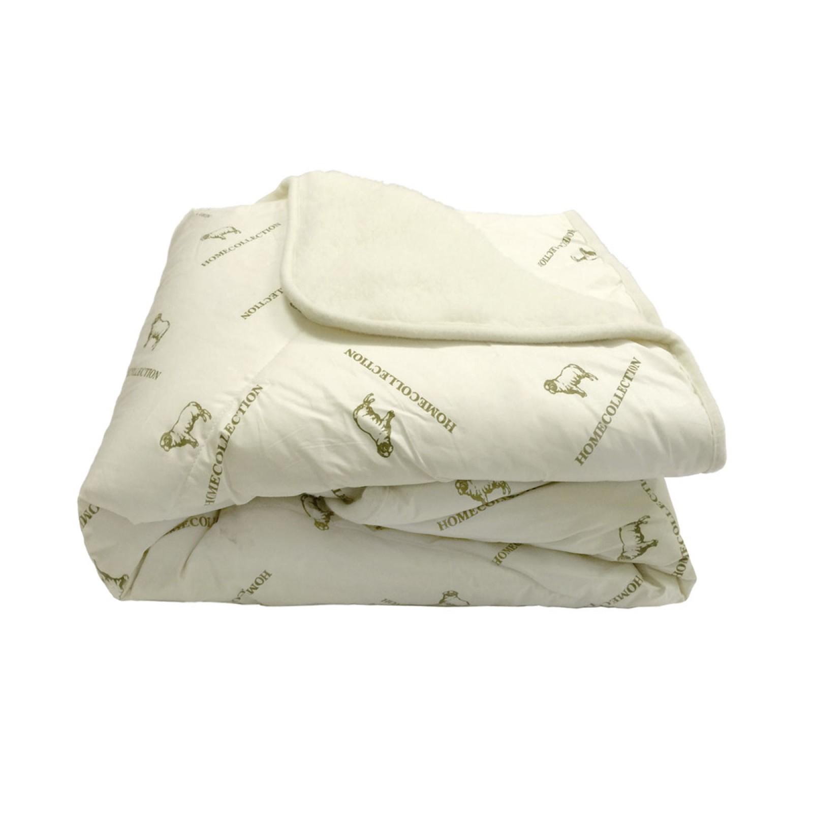 Одеяло из овечьей шерсти детское  «Home collection» 140х110 белое