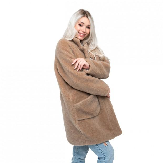 Пальто стильное из верблюжьей шерсти