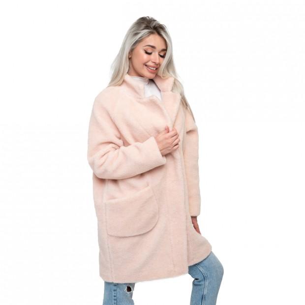 Пальто стильное из овечьей шерсти