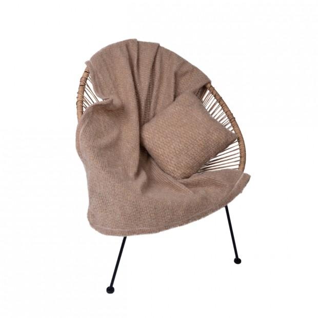 Комплект подушка+плед цвет камел